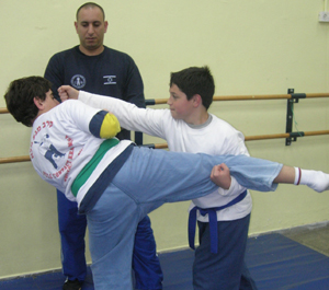 Guy Dar Teaches Children's Krav Maga Maleh